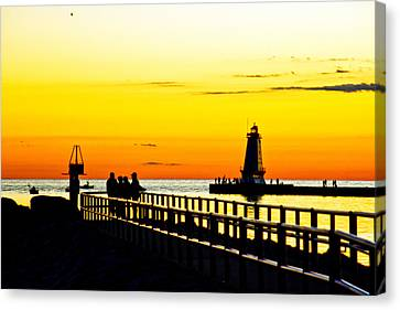 Canvas Print featuring the photograph Sunset Walk by Randall  Cogle