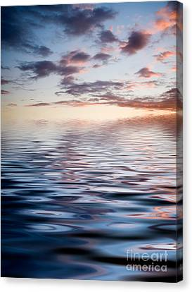 Sunset With Reflection Canvas Print by Kati Molin