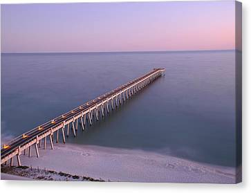 Sunsetting On The Pier Canvas Print