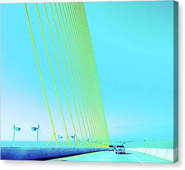 Canvas Print featuring the photograph Sunshine  Bridge by Lizi Beard-Ward