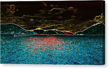 Sunshine Coastin' Canvas Print by Travis Crockart