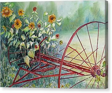 Sunshine Coming Through Canvas Print by Louise Peardon