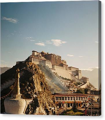 Sunshine In Potala Canvas Print by Mona