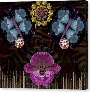Seed Canvas Print - Sunshine Seeds And Orchids Is Life by Pepita Selles