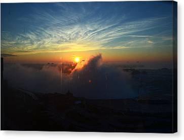 Canvas Print featuring the photograph Sunsrise At Niagara by Pravine Chester