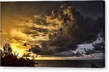 Top-end Canvas Print - Sunstorm by Douglas Barnard
