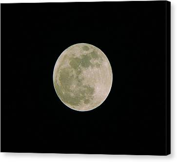 Canvas Print featuring the photograph Super Moon May 5  2012 by Brian Wright