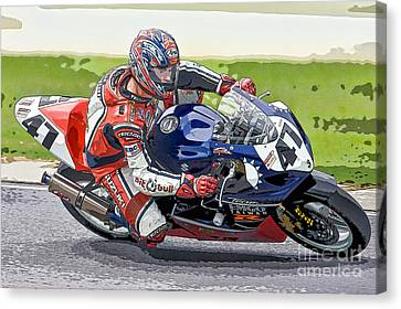 Opie Canvas Print - Superbike Racer I by Clarence Holmes
