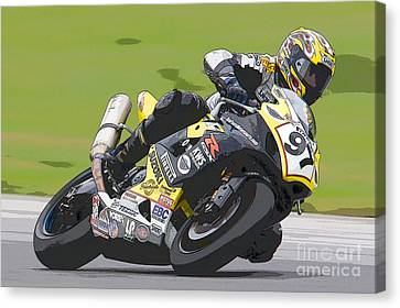 Superbike Racer II Canvas Print by Clarence Holmes