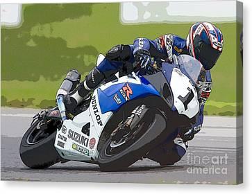 Big Kahuna Canvas Print - Superbike Racer IIi by Clarence Holmes