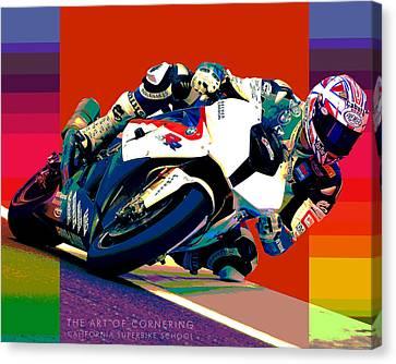 Superbike School Bmw Canvas Print by Barry Shereshevsky