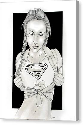 Supergirl Canvas Print by Nathan  Miller