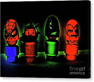 Superheroes Canvas Print by Ricky Sencion