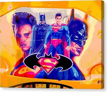 Superman Camaro Canvas Print