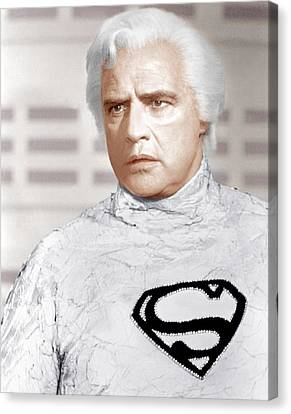 Superman, Marlon Brando, 1978 Canvas Print by Everett