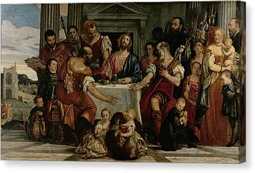 Supper At Emmaus Canvas Print by Veronese