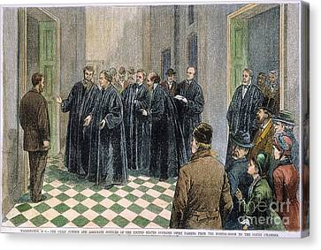 Supreme Court, 1881 Canvas Print by Granger