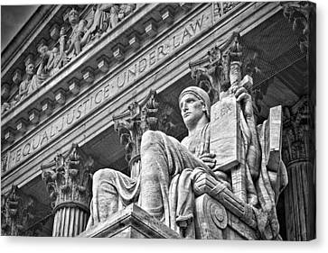 Supreme Court Building 21 Canvas Print by Val Black Russian Tourchin