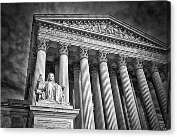 Supreme Court Building 6 Canvas Print by Val Black Russian Tourchin