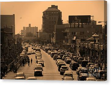 Surf Avenue Canvas Print by Mark Gilman