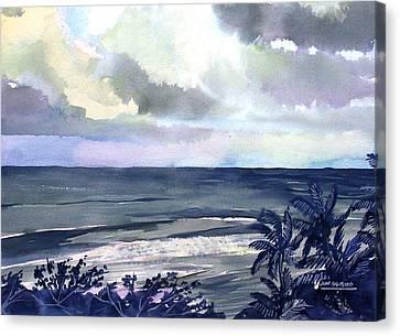 Surf Breaking Canvas Print by Jon Shepodd