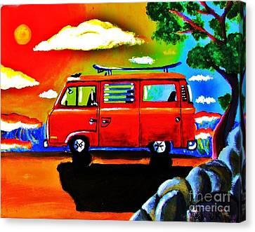 Surf Bus Canvas Print by Jeffrey Kyker