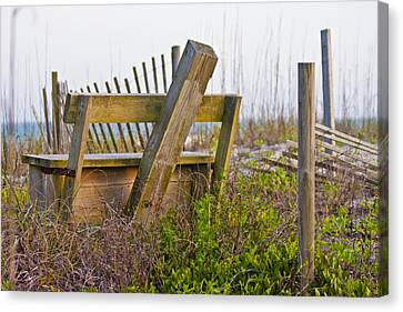 Surf City Chair Canvas Print by Betsy Knapp