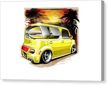 Surf Cube Canvas Print by Brian Stupski