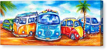 Surf Wagons Canvas Print