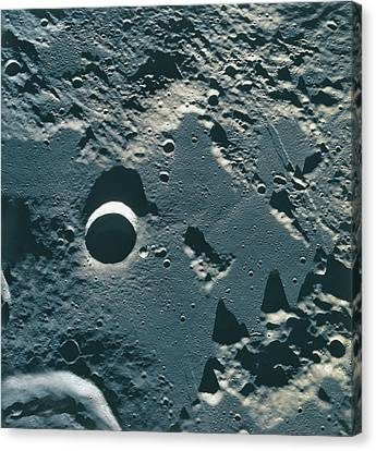 Surface Of The Moon Canvas Print by Stockbyte