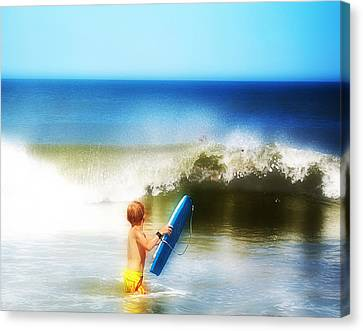 Surfer Boy Canvas Print by Trudy Wilkerson