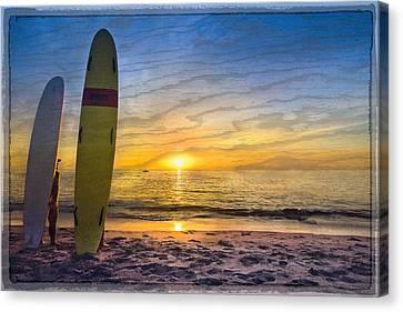Surfers' Dreams Canvas Print by Debra and Dave Vanderlaan