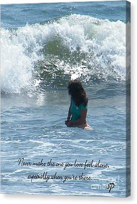 Surfing Eyes Canvas Print by Laurence Oliver