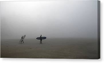 Canvas Print featuring the photograph Surfing Into The Abyss by Katie Wing Vigil