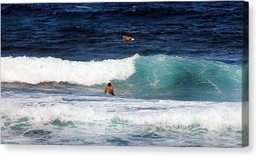 Canvas Print featuring the photograph Surfs Up by Elizabeth  Doran