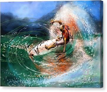 Surfscape 03 Canvas Print by Miki De Goodaboom
