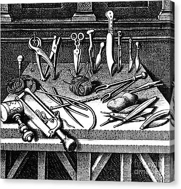 Surgical Equipment, 16th Century Canvas Print by Science Source