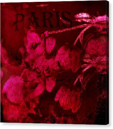 Beautiful Tulips Canvas Print - Surreal Abstract Dark Red Impressionistic Tulips by Kathy Fornal