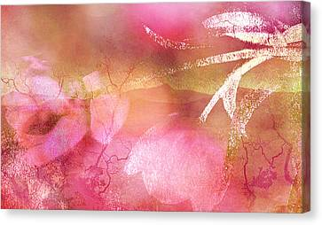 Beautiful Tulips Canvas Print - Surreal Abstract Dreamy Pink Tulips Impressionistic by Kathy Fornal