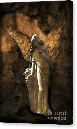 Surreal Fantasy Angel Art Montage Painting Canvas Print by Kathy Fornal