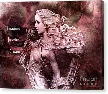 Surreal Fantasy Inspirational Angel Art  Canvas Print by Kathy Fornal