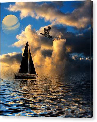 Surreal Seaside Canvas Print by Cindy Haggerty