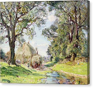 Surrey Landscape  Canvas Print by Edmund George Warren