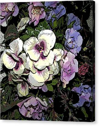 Surrounding Pansies Canvas Print by Pamela Hyde Wilson