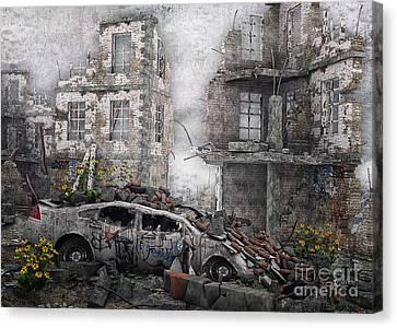 Survivors Between Ruins Canvas Print