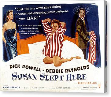Susan Slept Here, Anne Francis, Debbie Canvas Print by Everett