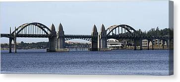 Suslaw Bridge Panorama Canvas Print by Mary Gaines