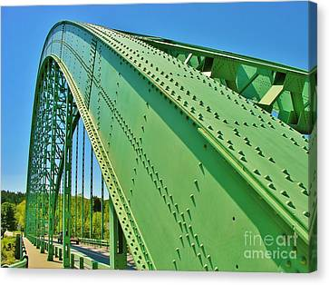 Canvas Print featuring the photograph Suspension Bridge by Sherman Perry