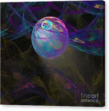 Canvas Print featuring the digital art Suspension by Victoria Harrington