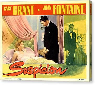 Films By Alfred Hitchcock Canvas Print - Suspicion, Joan Fontaine, Cary Grant by Everett